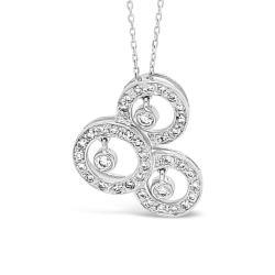 White Gold Pendant With Natural Diamonds